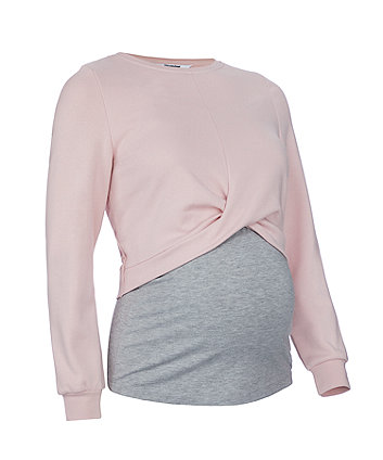 blush cropped nursing sweat top