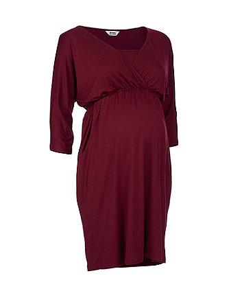 burgundy kimono nursing dress