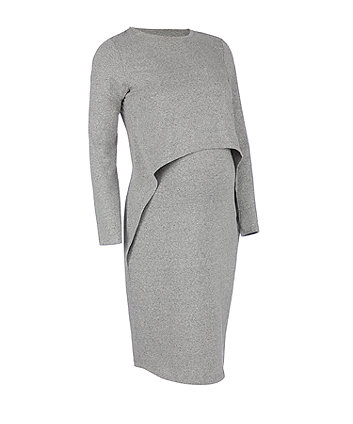 charcoal nursing dress