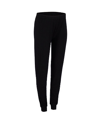 black ribbed maternity joggers