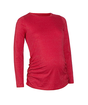 red lurex maternity t-shirt
