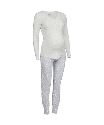 grey star nursing pyjama set