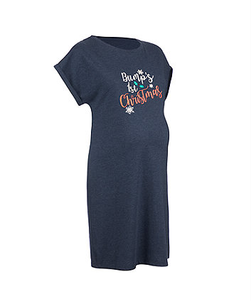 bump's first christmas maternity nightdress