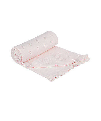 mothercare pointelle blanket - pink