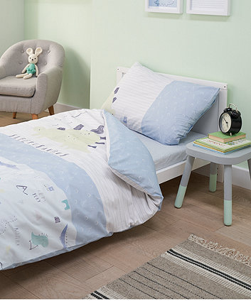 sleepysaurus cot bed duvet set