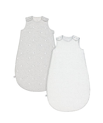 mothercare little lamb 2.5 tog sleep bags (6-18 months) - 2 pack