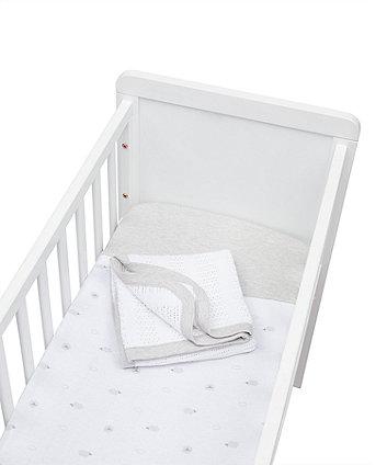 little lamb bedside crib starter set