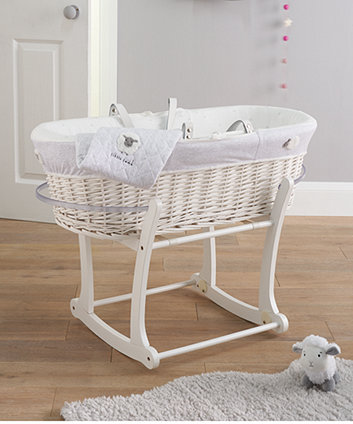 little lamb moses basket