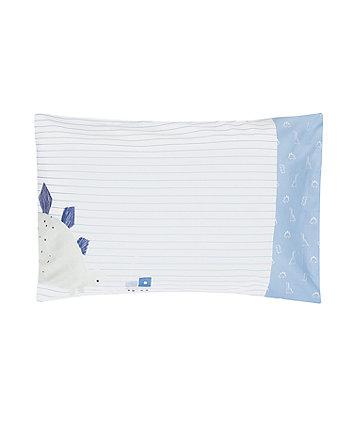 sleepysaurus cot bed pillowcase