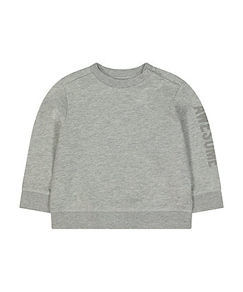 grey awesome sweat top