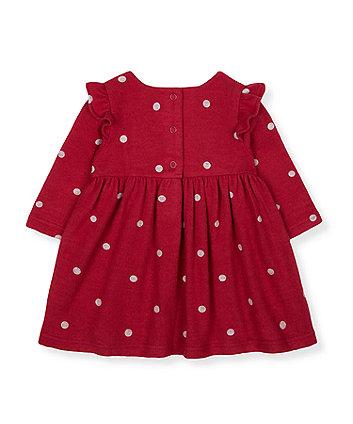 red spot frill dress