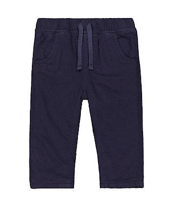 navy fleece-lined trousers