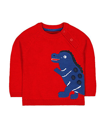 red dinosaur jumper