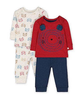 little bear cub pyjamas - 2 pack