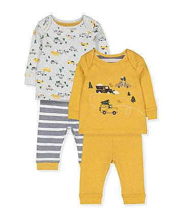 snowplough and christmas tree pyjamas - 2 pack