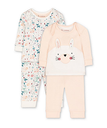 christmas woodland animals pyjamas - 2 pack