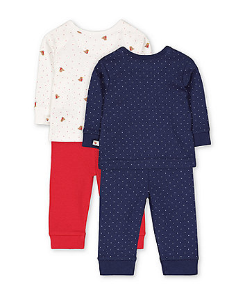 little robin pyjamas - 2 pack