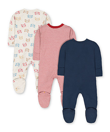 little cub sleepsuits - 3 pack
