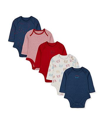 little cub bodysuits - 5 pack