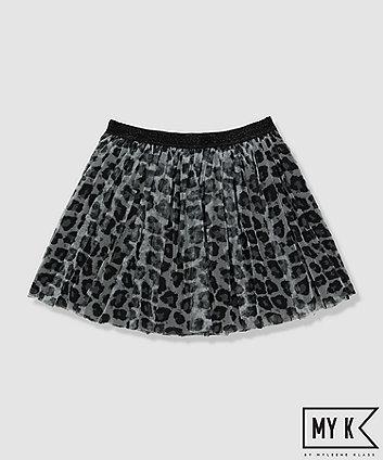my k leopard print skirt