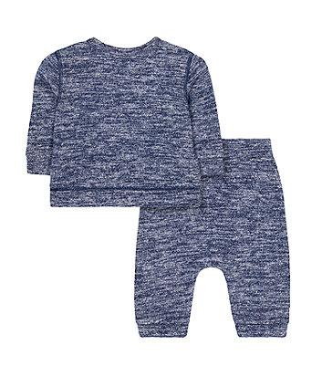 blue bear sweat top and joggers set