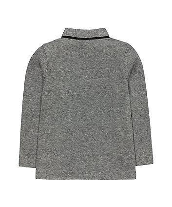grey polar bear polo t-shirt