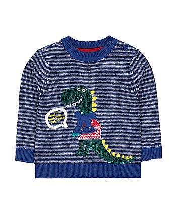dinosaur christmas jumper