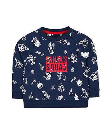 festive santa squad sweat top