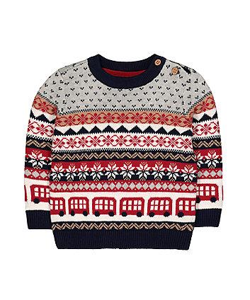 winter heritage fairisle knit jumper