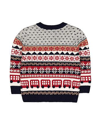 festive heritage fairisle knit jumper