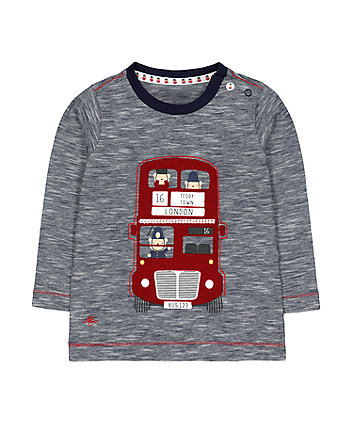 heritage red bus t-shirt