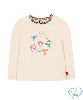 little bird cream toadstool t-shirt
