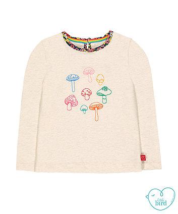 little bird cream toadstool t-shirt