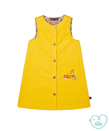 little bird mustard cord pinny