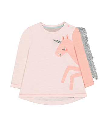 pink sparkle unicorn t-shirt