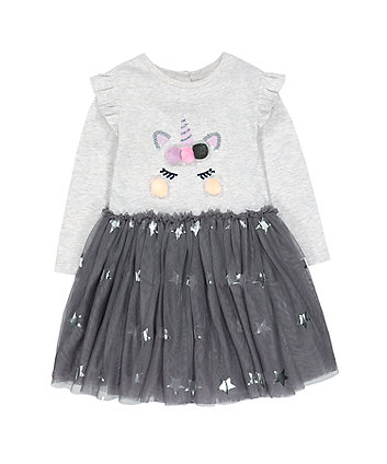 festive unicorn and stars twofer dress