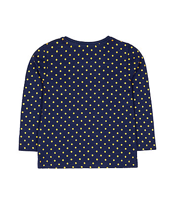 festive navy sequin robin t-shirt