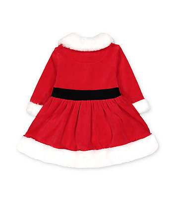 festive mrs santa claus dress and tights set
