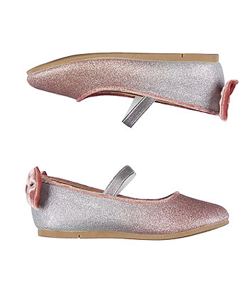 ombre glitter ballerina shoes