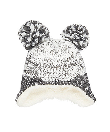 double-pom trapper hat