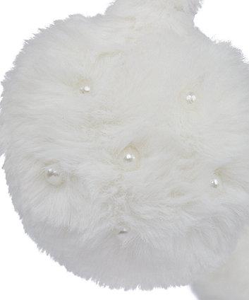 cream pearl earmuffs