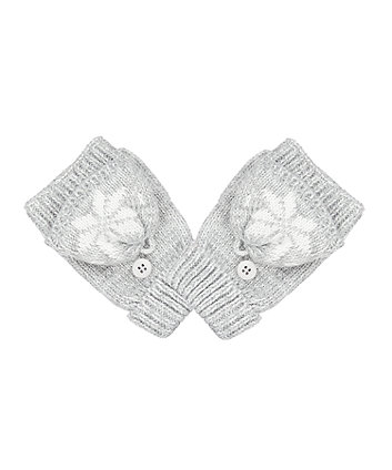 grey fairisle converter gloves