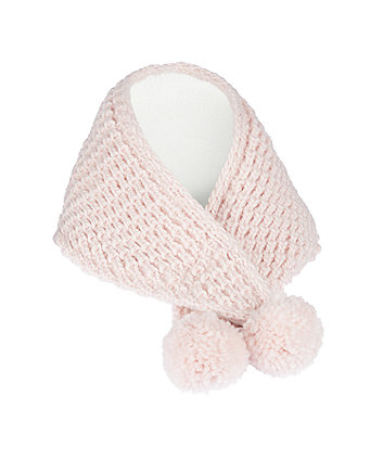 pink snood scarf
