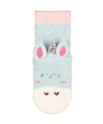 fluffy unicorn socks