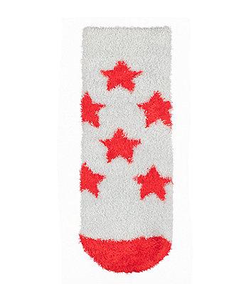star fluffy socks