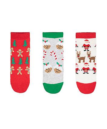 festive socks - 3 pack