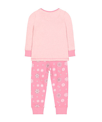 pink christmas unicorn pyjamas