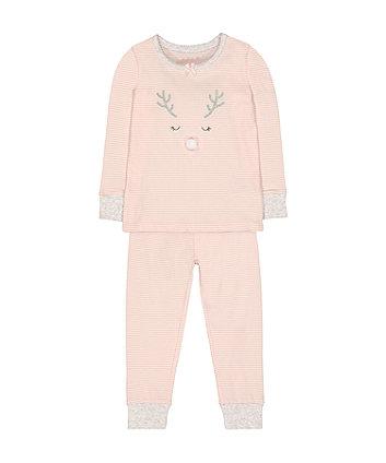 christmas reindeer pyjamas