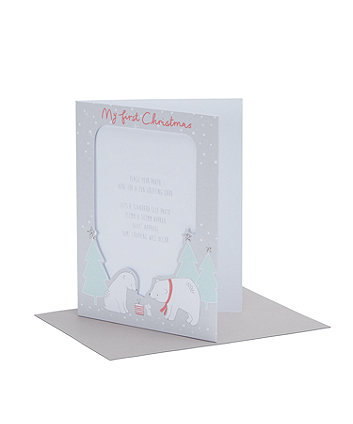 my first christmas photo cards