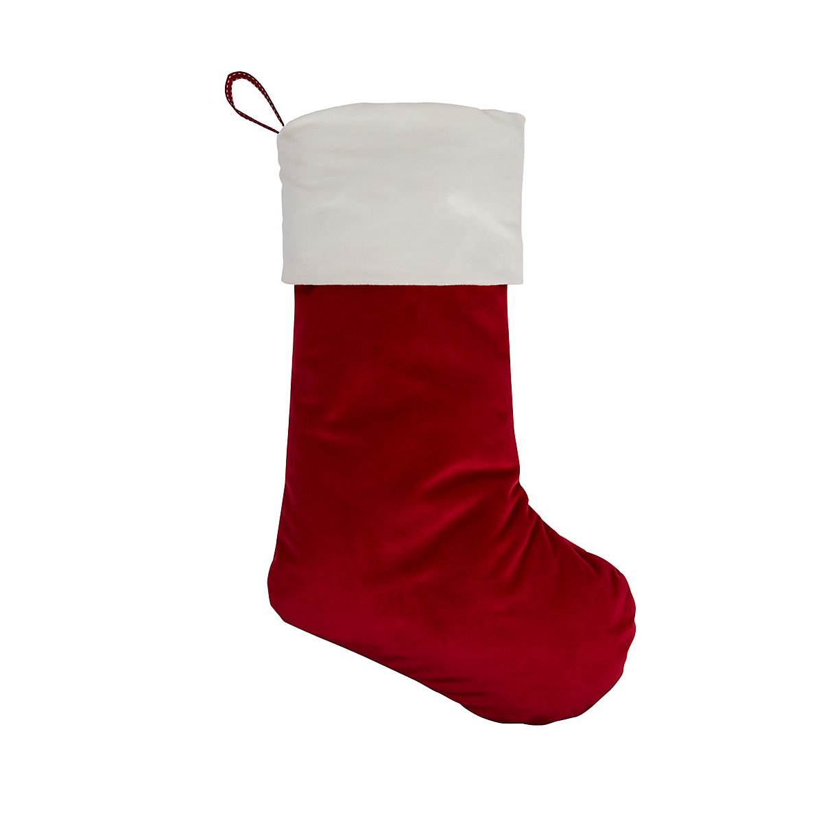 personalised heritage red velvet stocking